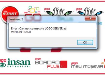 ErrorCan not connect to Logo SERVER at 32070 çözümünu bulacaksınız