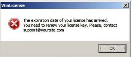 The Expiration Date of Your License Has Arrived