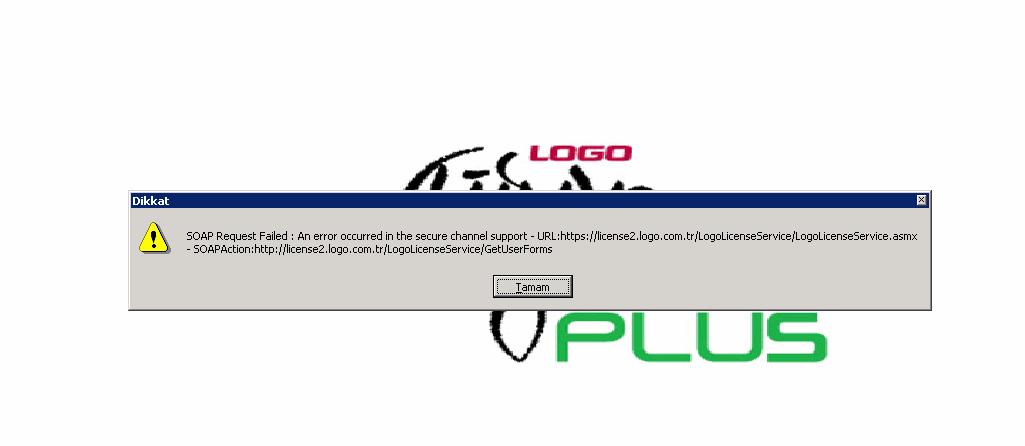 Soap Request Failed Hatası Logo Lisans Yenileme