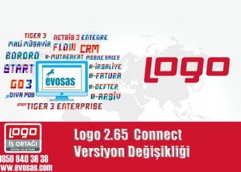 Logo 2.65 Connect Versiyon Değişikliği