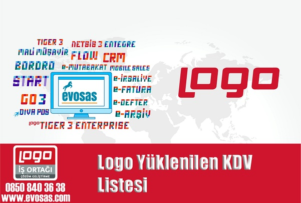 Logo Yüklenilen KDV Listesi