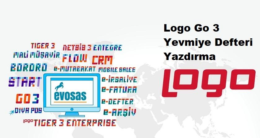 Logo Go 3 Yevmiye Defteri Yazdırma